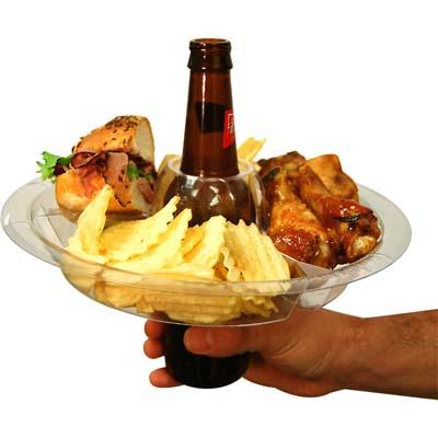 Bandeja para comida y bebida todo en uno