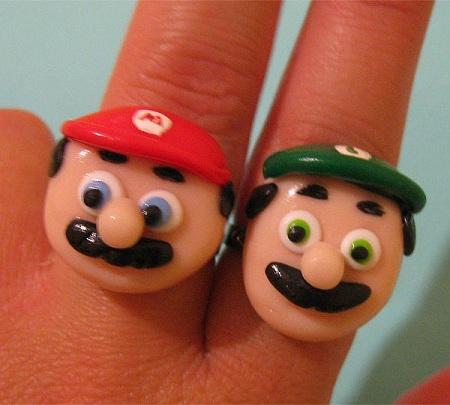 anillos de Mario y Luigi