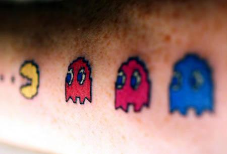 Tatuaje Pac Man