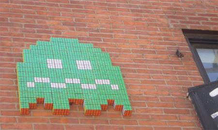 Space Invader con Cubos de Rubik