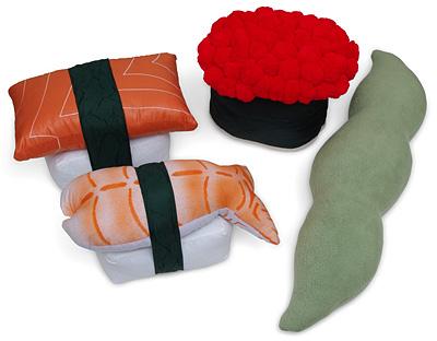 Cojines decorativos con forma de sushi |