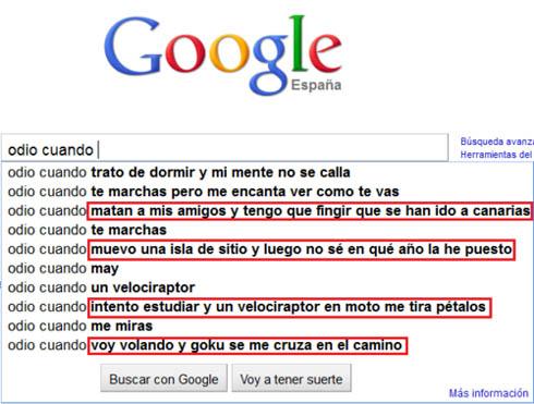 Que odia Google