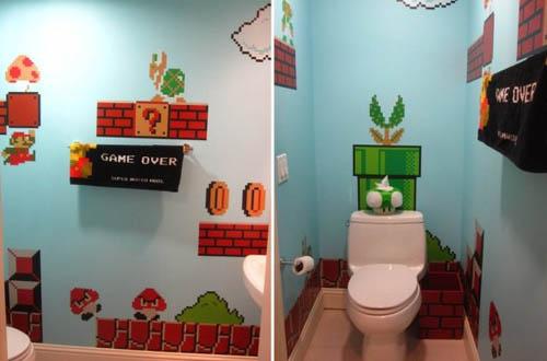 El cuarto de baño de Super Mario | geekalia.com