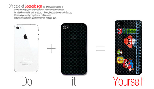 Neostitch funda carcasa para personalizar tu iphone 4 con punto de cruz - Personalizar funda iphone ...