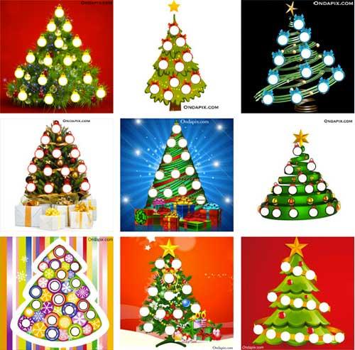 utiliza las fotos de tus amigos para decorar un rbol de navidad y felictalos con