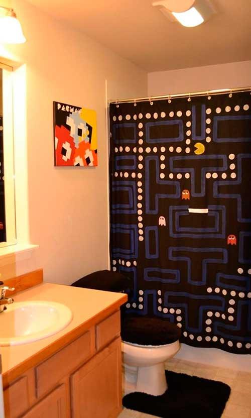 Cortinas De Baño Frikis:Estás pensando redecorar el baño y buscas unas cortinas de ducha