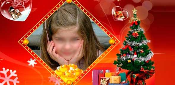 Postal de navidad con foto personalizada