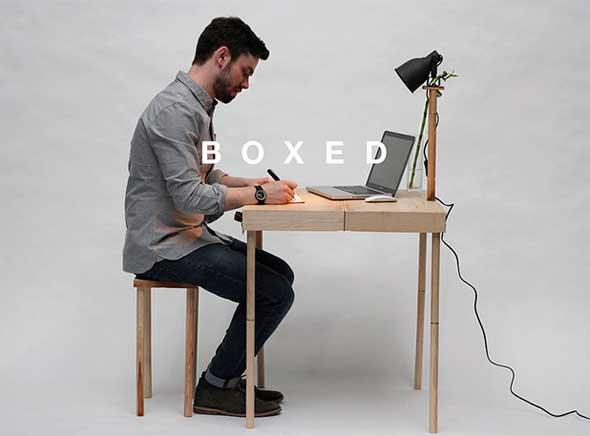 Boxed una bonita mesa de escritorio plegable - Mesa de escritorio plegable ...