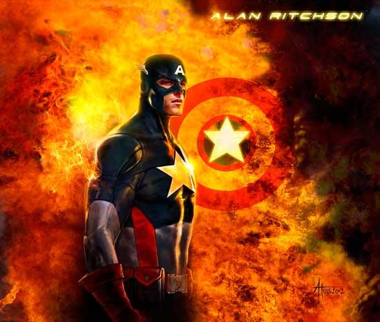Alan Ritchson como Capitán America