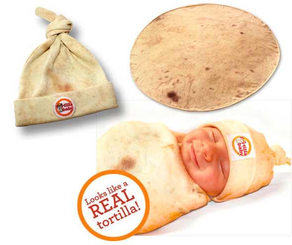 Convierte a tu en bebé un burrito