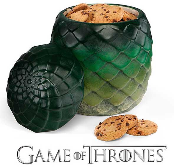 Bote de galletas de Juego de Tronos con forma de huevo de dragón
