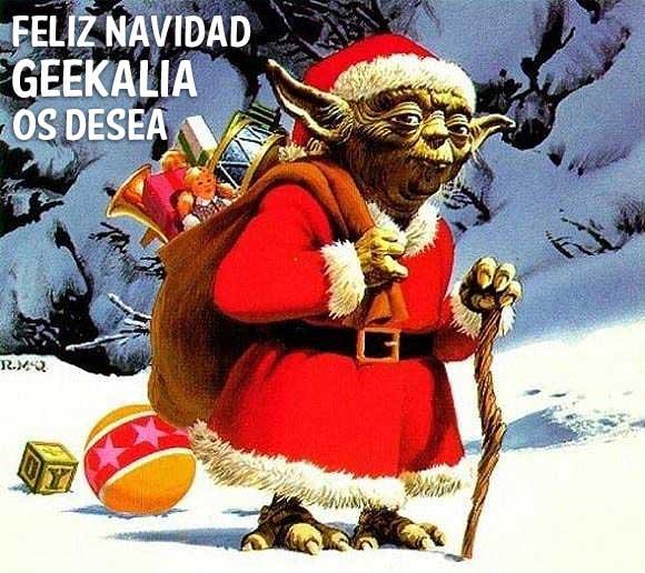 Yoda Feliz Navidad Geek