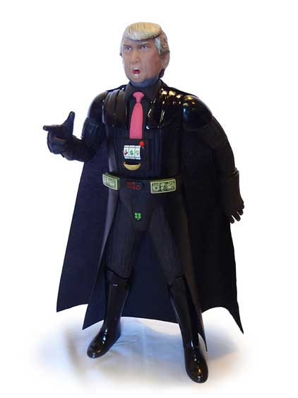 figuras acción Darth Vader Donald Trump