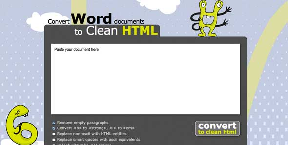 Convertir documentos de Word a HTML