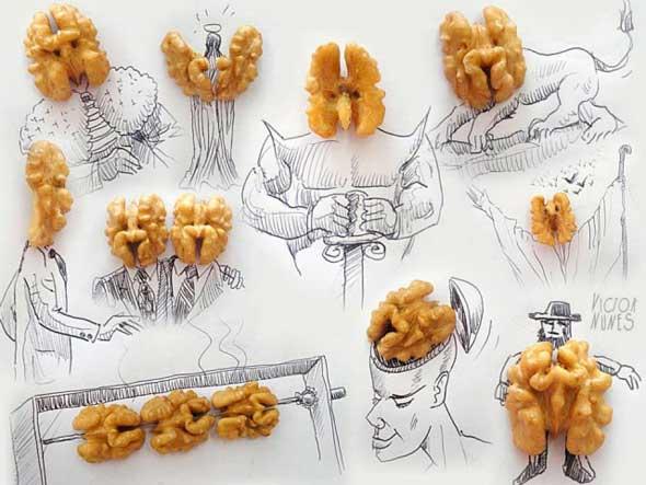 Arte con nueces de Victor Nunes