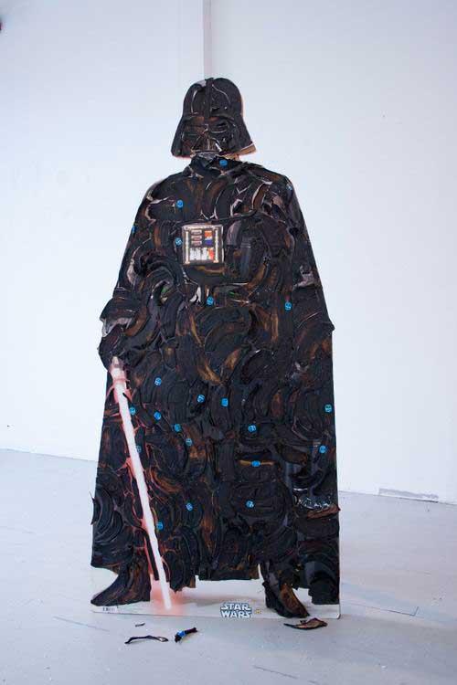 Darth Vader hecho con piel de plátano