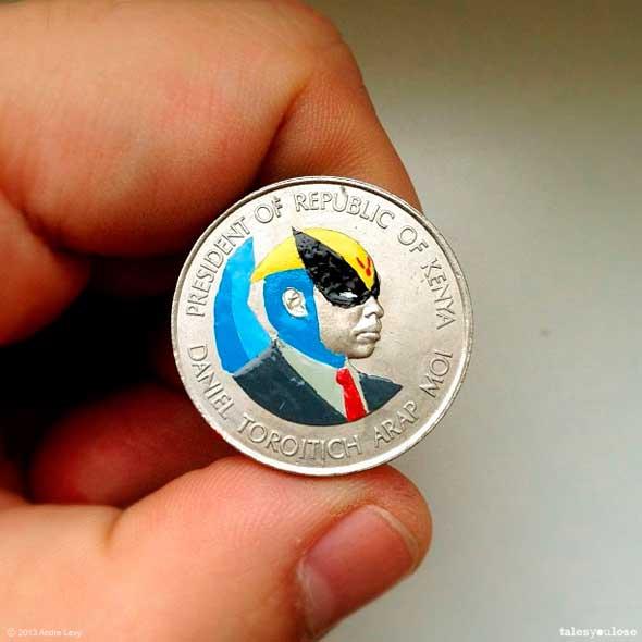 Tales you Lose - Superhéroes y otros personajes famosos pintados sobre monedas