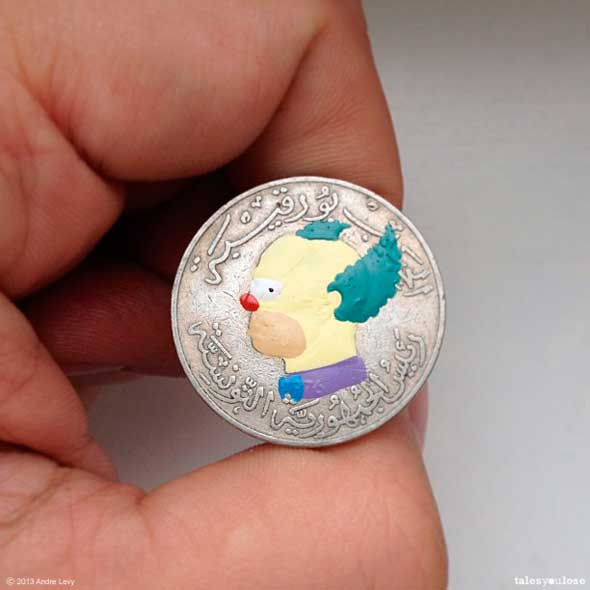 Tales you Lose moneda pintada por Andre Levy