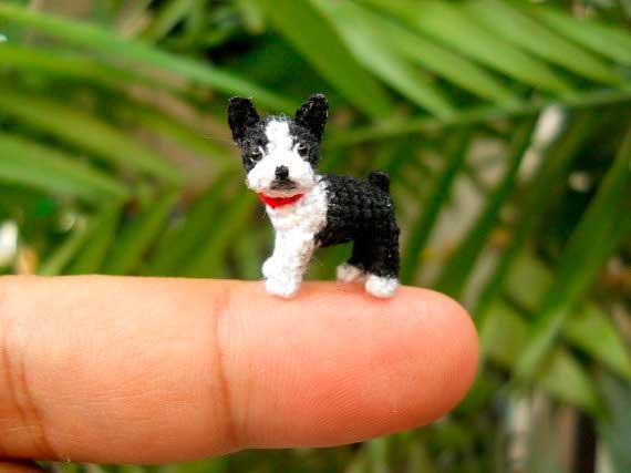 Animales miniatura hechos a ganchillo
