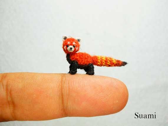 Animales miniatura hechos a ganchillo con técnica Amigurumi