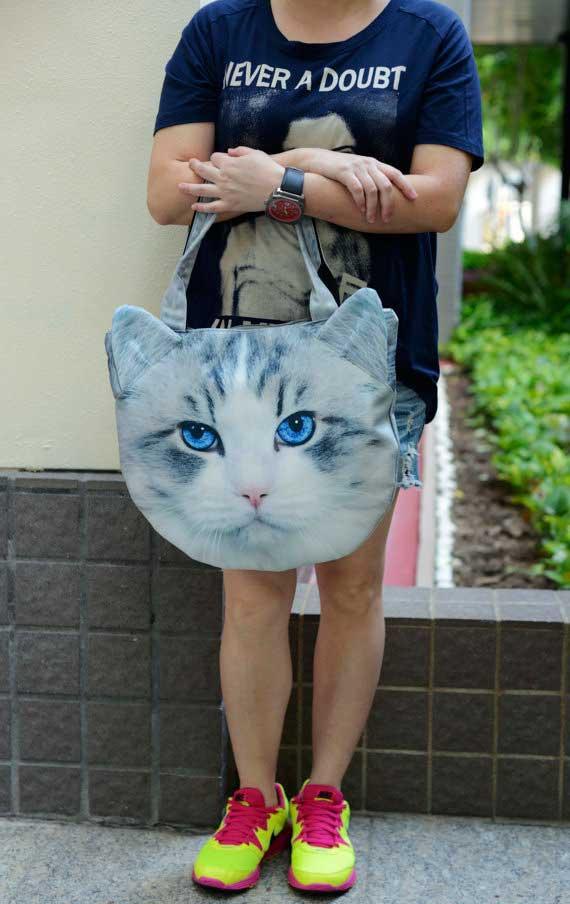 Bolsos con cara de animales; gatos
