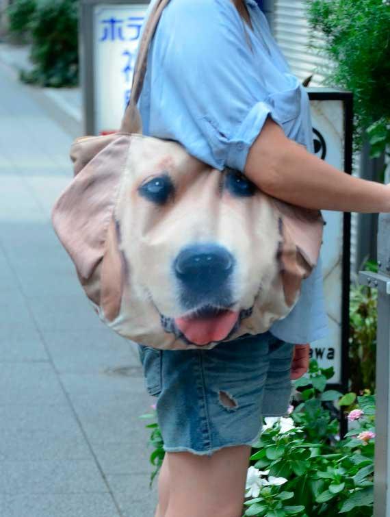 Bolsos con cara de animales; perros