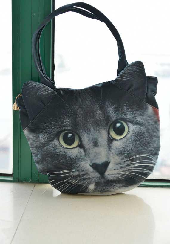 Bolsos con cara de gatos