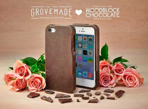 Carcasa para iPhone 5/5S hecha con chocolate real