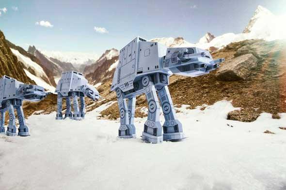 Bonitas figuras de papel papercraft de Star Wars