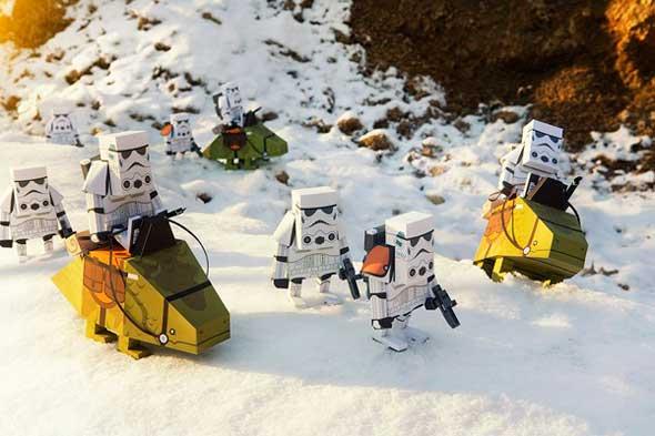 Bonitas figuras papercraft de Star Wars