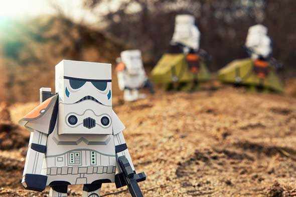 Figuras papercraft de Star Wars