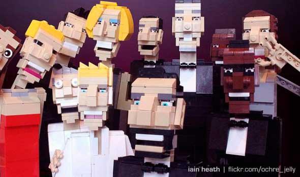 Parodia foto de Ellen DeGeneres en LEGO
