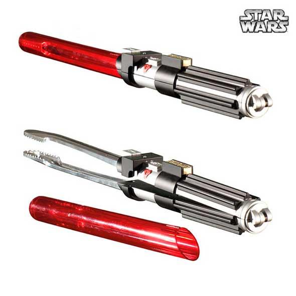 Pinzas para parrilla de Star Wars con forma de sable láser