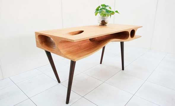 Mesa de diseño para gatos