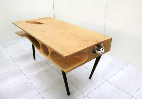 CATable: Una mesa de diseño pensada para gatos