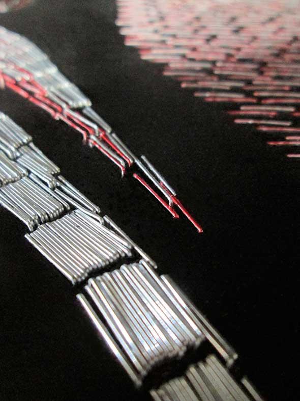 Mosaicos de Star Wars hechos con grapas