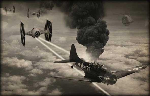 Imágenes de Star Wars estilo Segunda Guerra Mundial