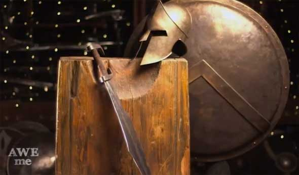 Espada de Leonidas (300) forjada por MAN AT ARMS