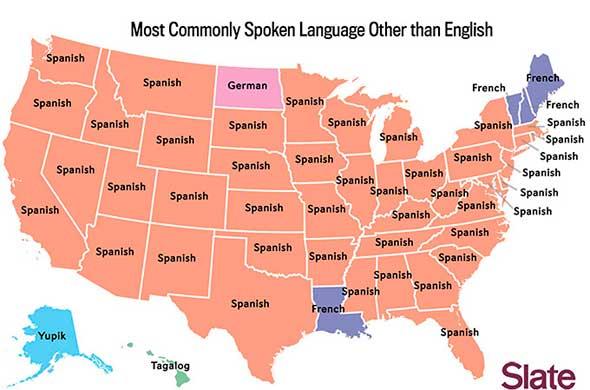 Los idiomas más hablados en los EE.UU. Después de Inglés y Español