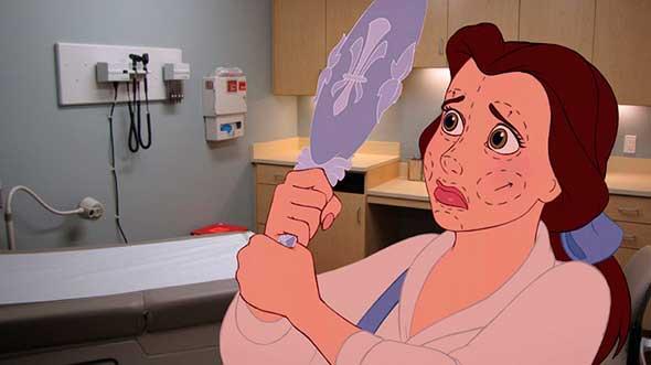 Personajes de Disney en desafortunadas situaciones del mundo real