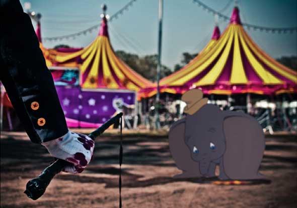 Personajes de Disney en desafortunadas situaciones del mundo real, Dumbo