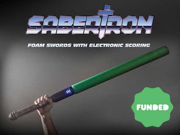Sabertron - Espadas de espuma con puntuación electrónica