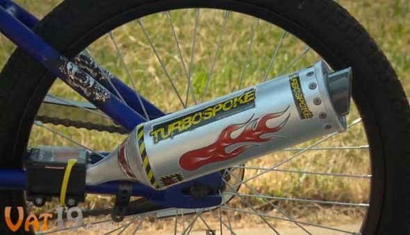 Un tubo de escape que transforma tu bicicleta en una moto