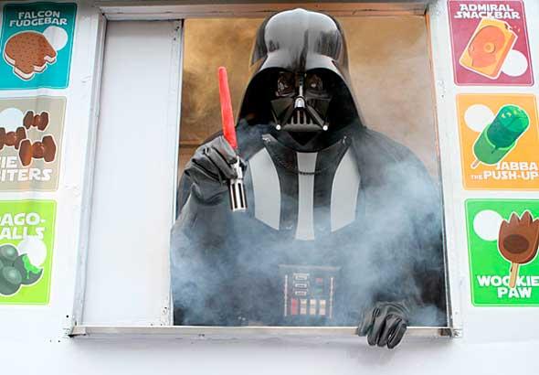 Moldes para helados sable de luz de Star Wars