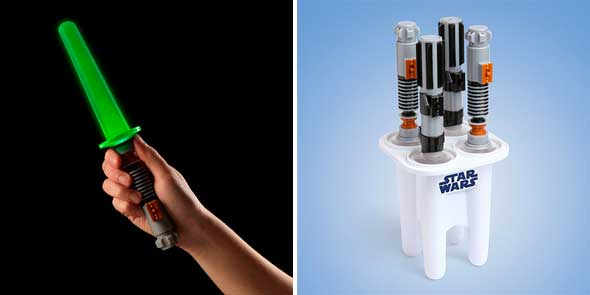 Moldes para helados sable láser de Star Wars