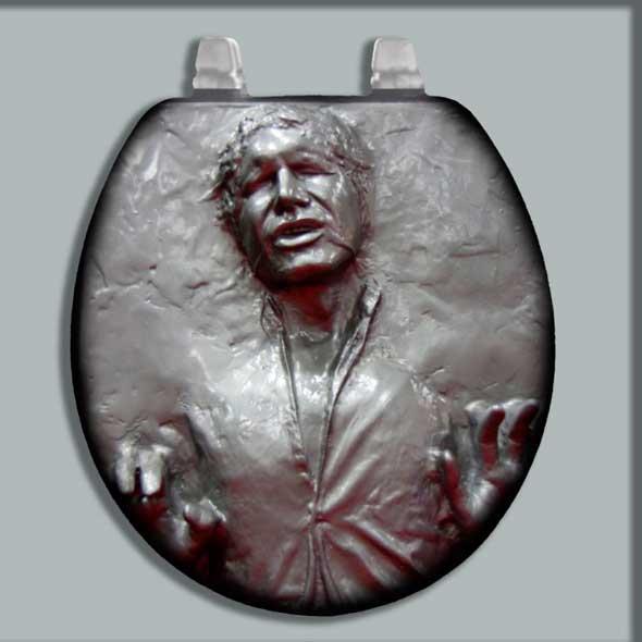 Asiento y tapa de inodoro con Han Solo congelado en carbonita