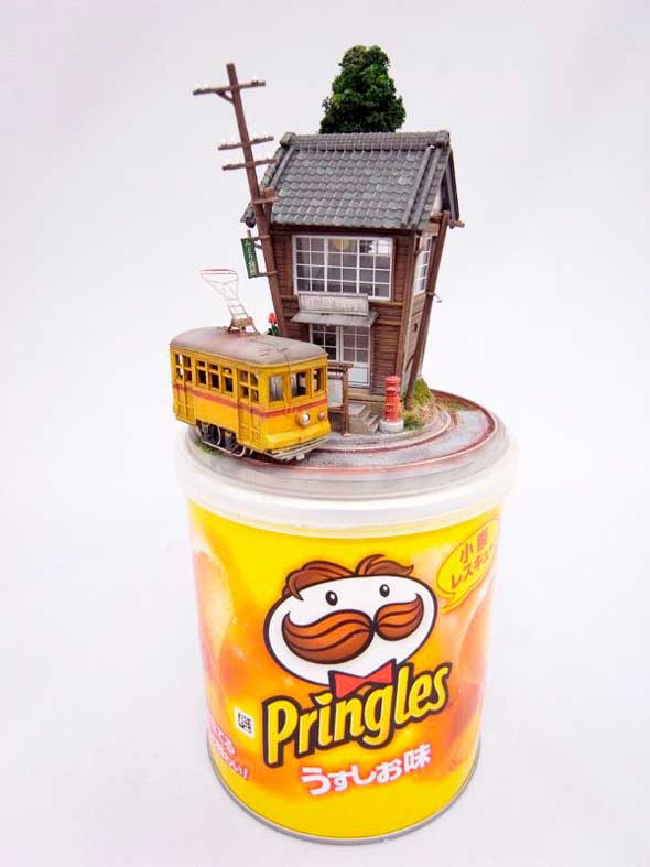 Impresionantes dioramas miniatura en objetos cotidianos
