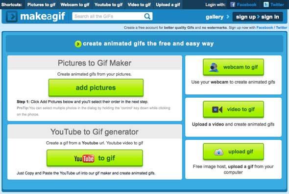 Make A Gif - Convertir vídeo a GIF online