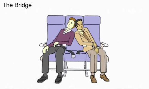 Posiciones para dormir en un avión