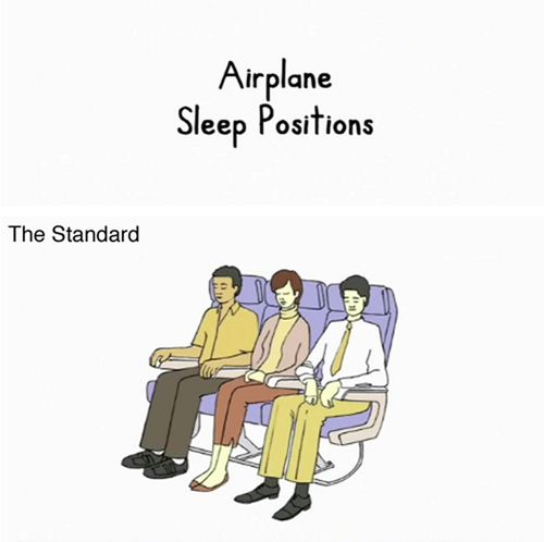 Cómo dormir en un avión